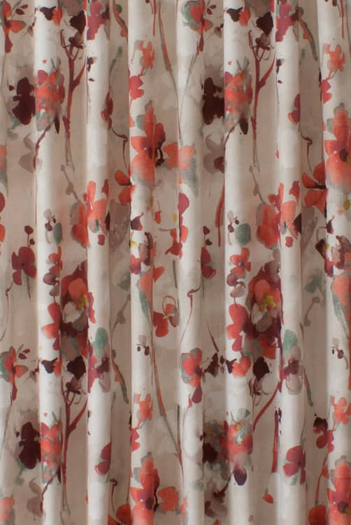 Elsberry Fiery Red Curtain Fabric