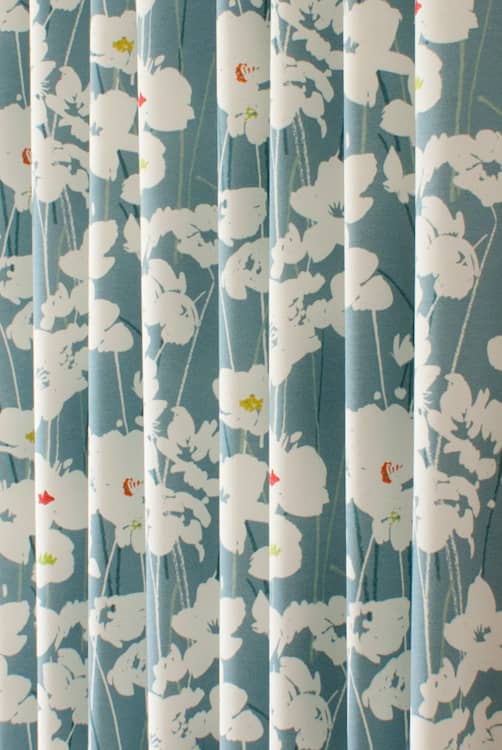 Jada Blue Curtain Fabric