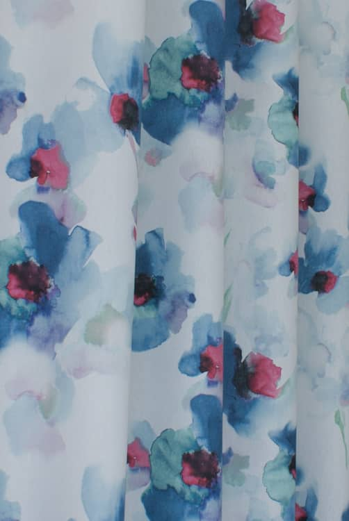 Carmel Indigo Curtain Fabric
