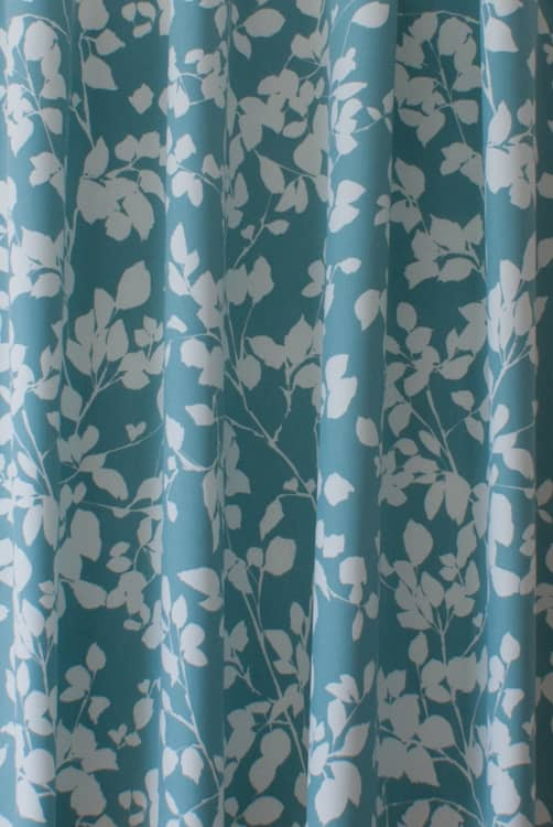 Roux Teal Curtain Fabric