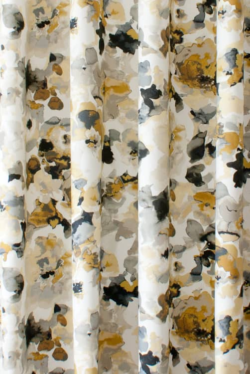 Darla Gold Curtain Fabric
