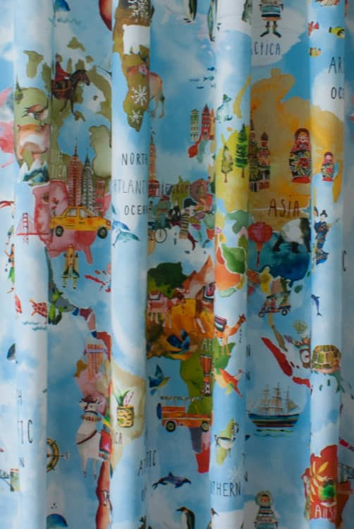 Adventure Rainbow Curtain Fabric