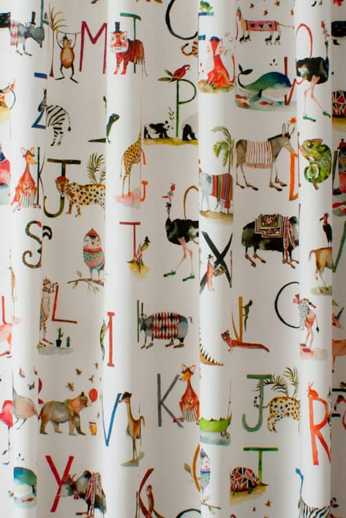 Animal Alphabet Paintbox Made to Measure Curtains
