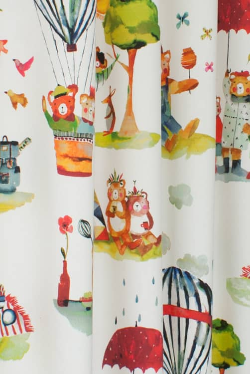 Little Bear Vintage Roman Blinds