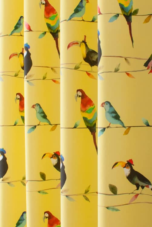 Toucan Talk Zest Curtain Fabric