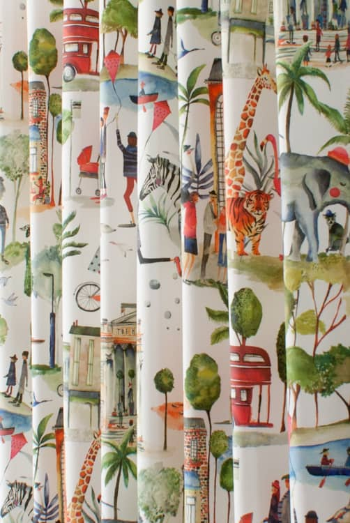 Out and About Paintbox Roman Blinds