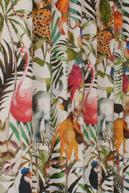 King of the Jungle Safari Made to Measure Curtains
