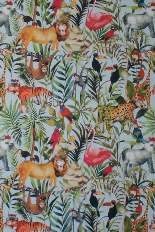King Of The Jungle Waterfall Roman Blinds