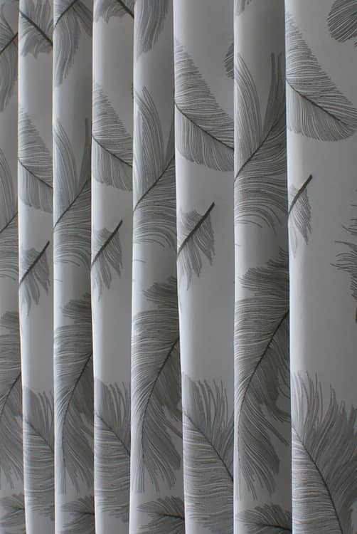 Quill Silver Made to Measure Curtains