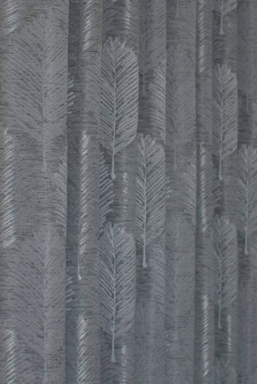 Elm Silver Curtain Fabric