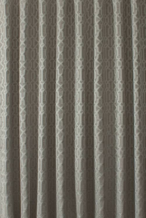 Alder Putty Curtain Fabric