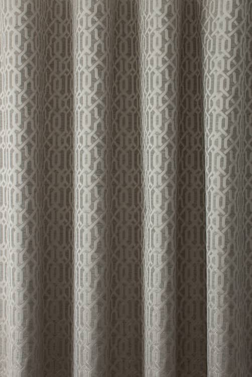 Alder Slate Curtain Fabric