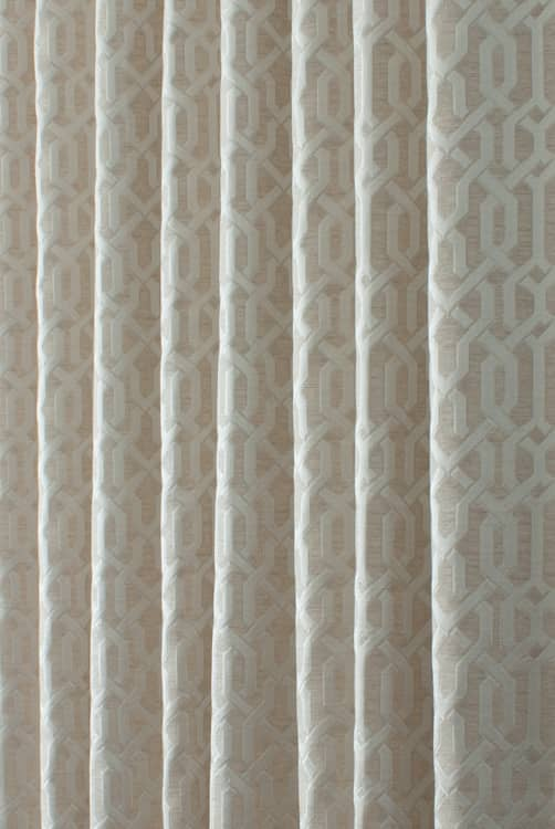Alder Taupe Curtain Fabric