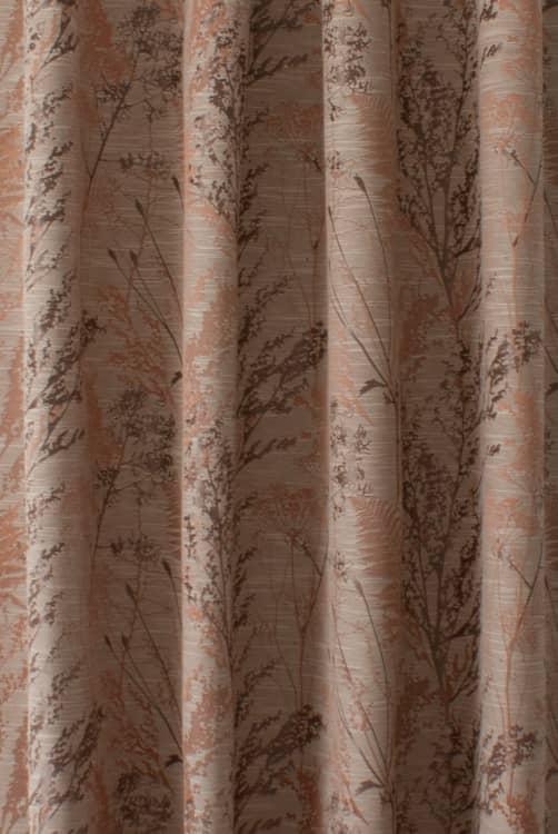Keshiki Auburn Curtain Fabric