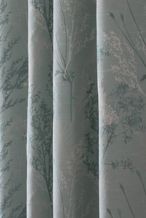 Keshiki Teal Curtain Fabric