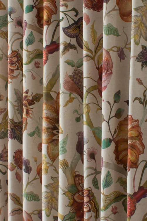 Delilah Spice Curtain Fabric