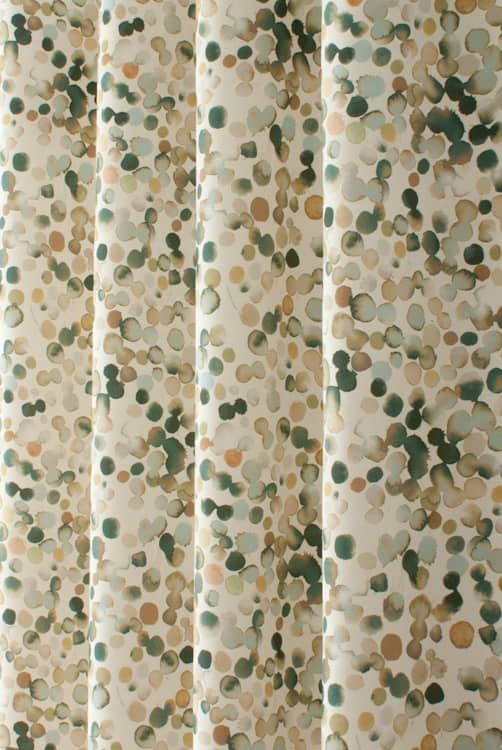 Droplet Cream Curtain Fabric
