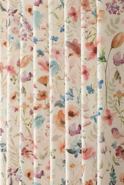 Lolita Multi/Cream Curtain Fabric