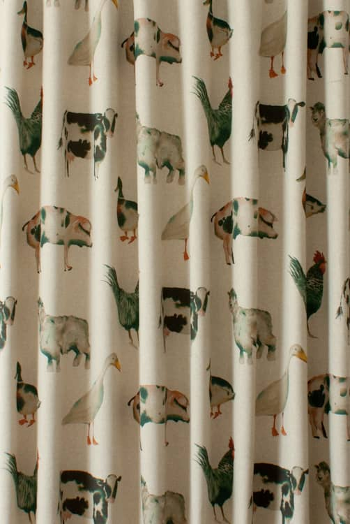 On The Farm Linen Roman Blinds