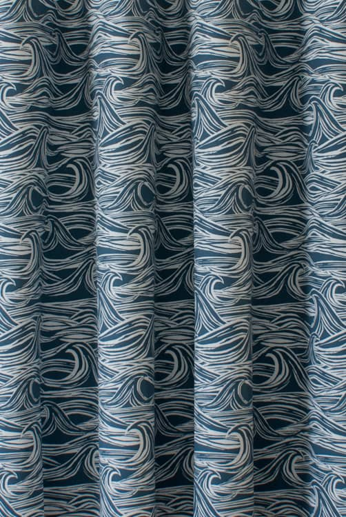 Surf Navy Curtain Fabric