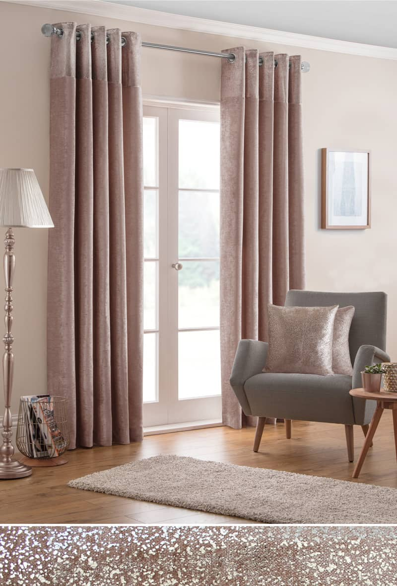 Nova Blush Ready Made Curtains