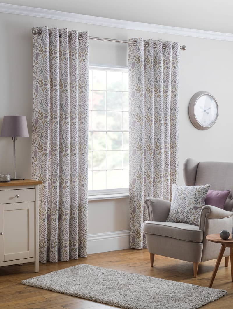 Everley Heather Ready Made Curtains