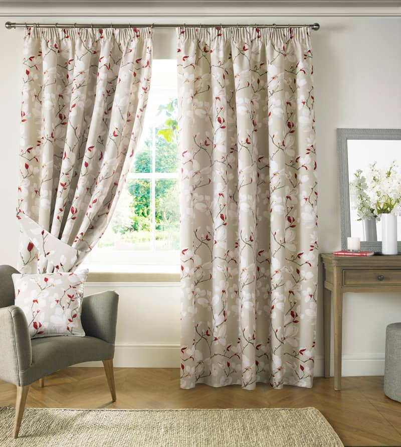 Anita Poppy Ready Made Curtains