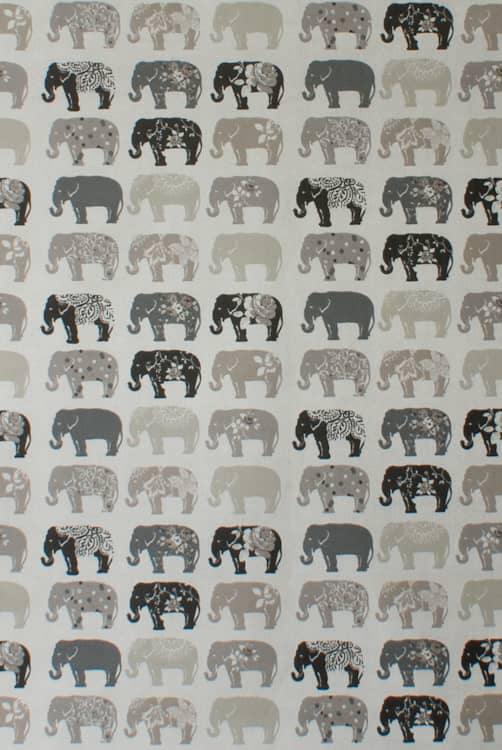 Elephants Natural Made to Measure Curtains