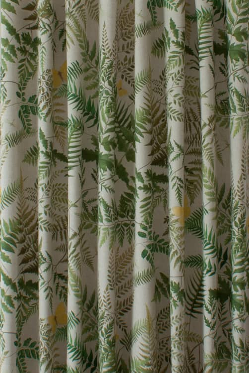 Fern Glade Linen Curtain Fabric