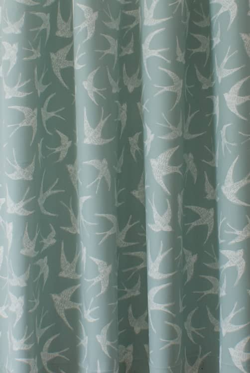 Fly Away Mineral Roman Blinds
