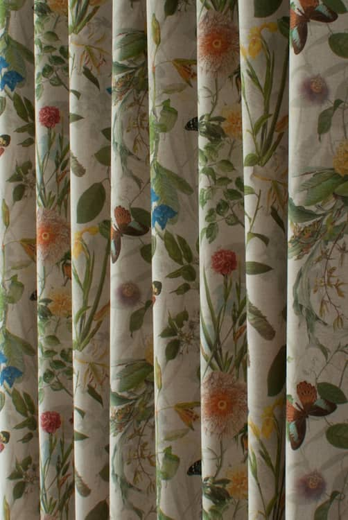 Secret Garden Linen Roman Blinds