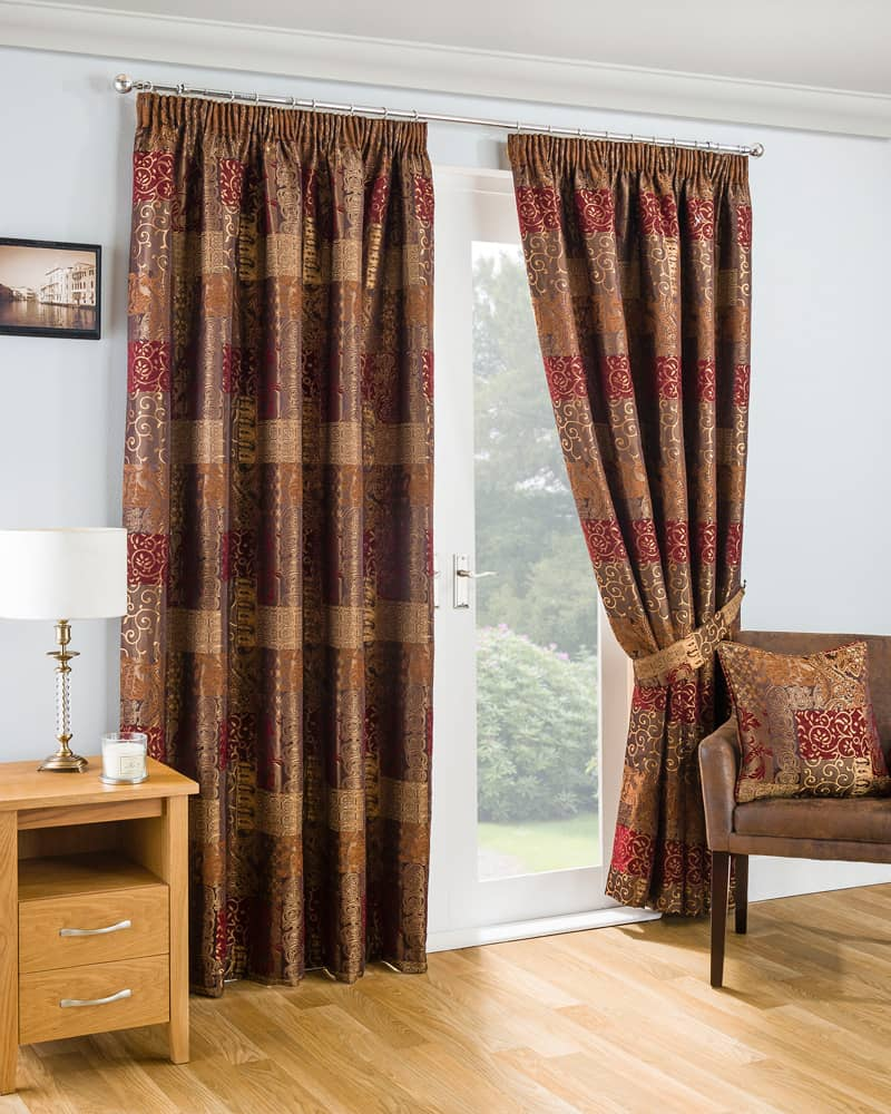 casablanca terracotta ready made curtains. Black Bedroom Furniture Sets. Home Design Ideas