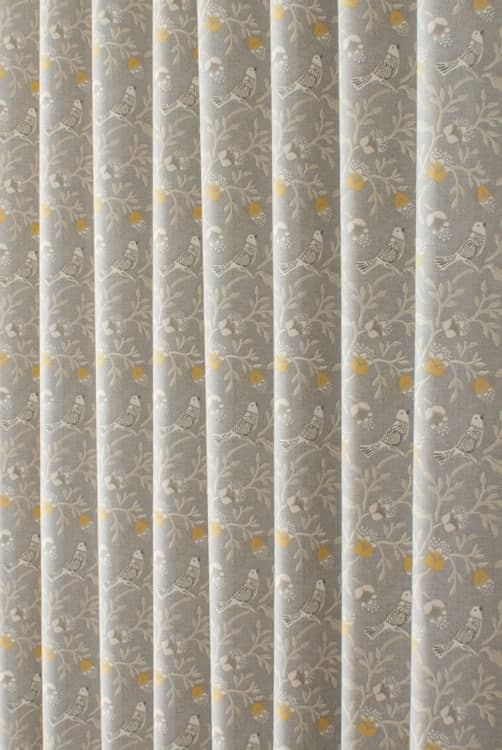 Birdsong Grey Roman Blinds