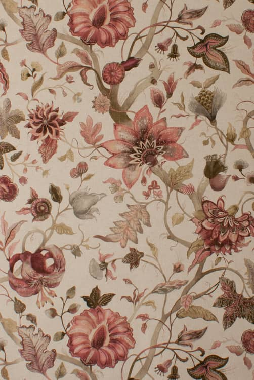 Delilah Winterberry Curtain Fabric