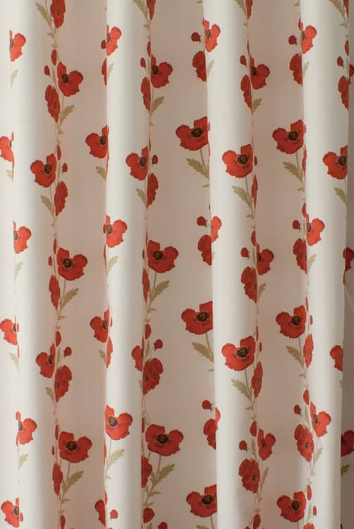 Poppy Red Curtain Fabric