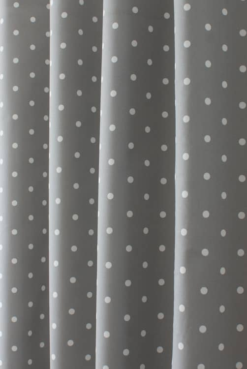 Dotty Smoke Roman Blinds