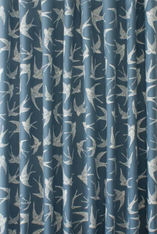 Fly Away Navy Roman Blinds