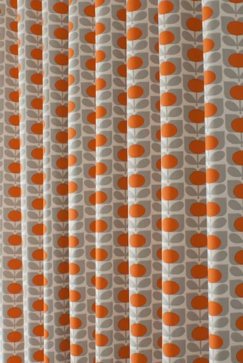 Ditsy Cyclamen Orange Made to Measure Curtains