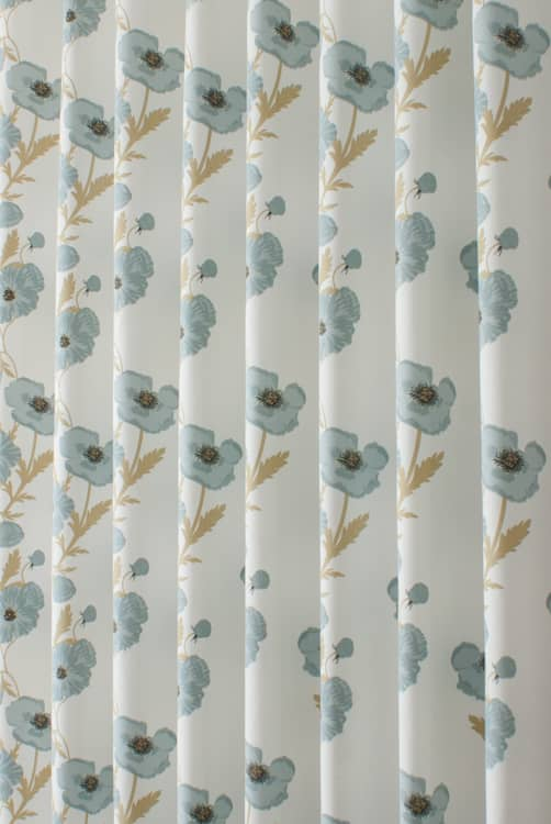 Poppy Blue Made to Measure Curtains