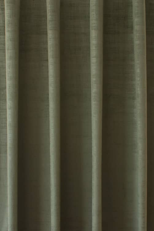 Dakota Velvet Olive Curtain Fabric