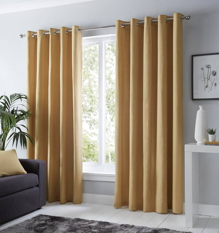 Sorbonne Ochre Ready Made Curtains