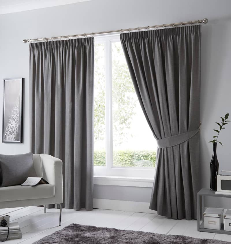 Dijon Charcoal Ready Made Curtains
