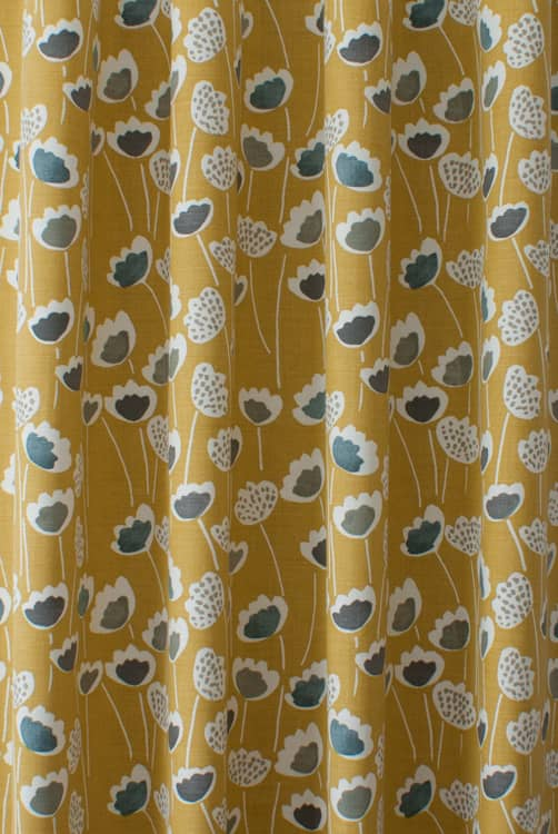 Clara Saffron Made to Measure Curtains