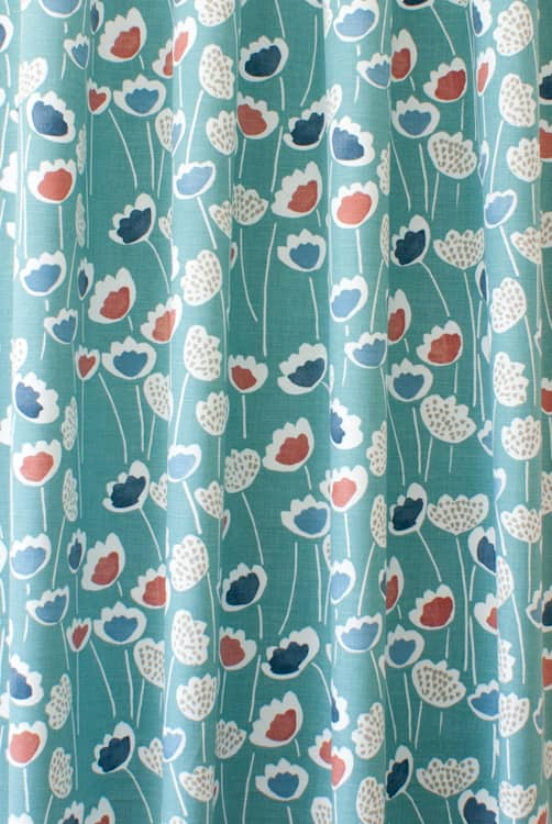 Clara South Pacific Curtain Fabric