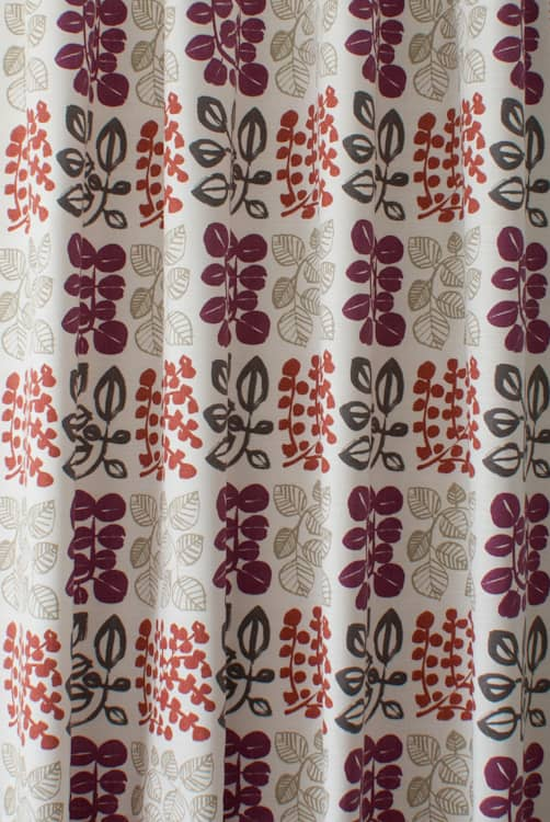 Cuba Very Berry Curtain Fabric