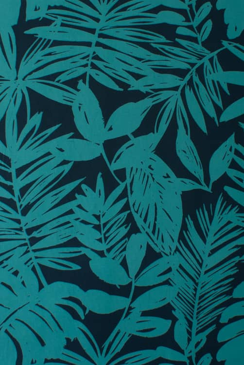 Dahlia Teal Curtain Fabric