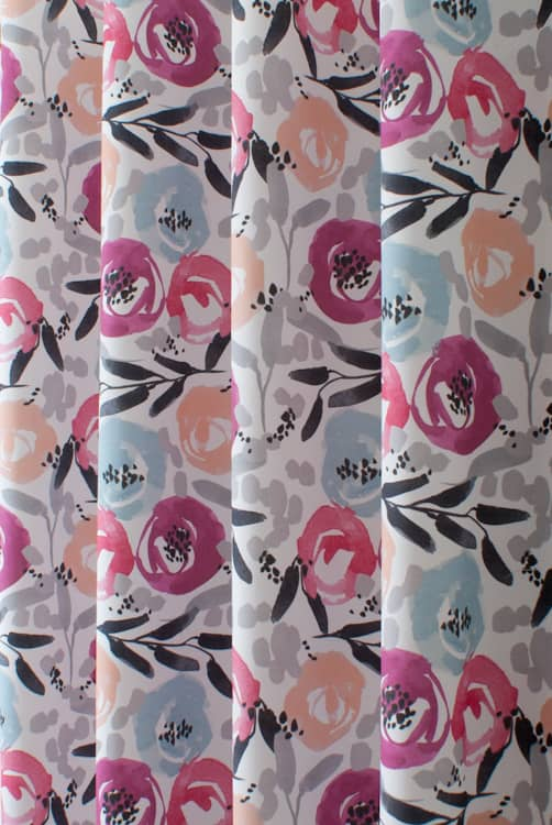 Florian Blossom Curtain Fabric