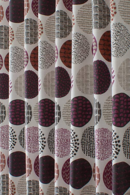Casa Very Berry Curtain Fabric
