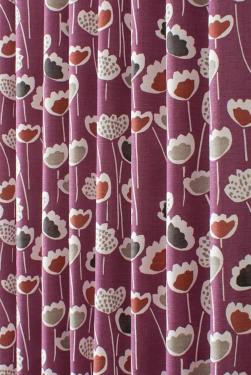 Clara Very Berry Curtain Fabric