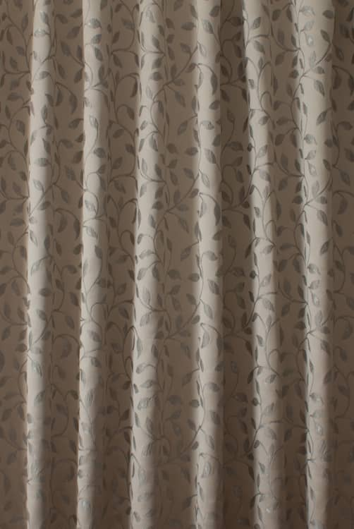 Garland Latte Curtain Fabric